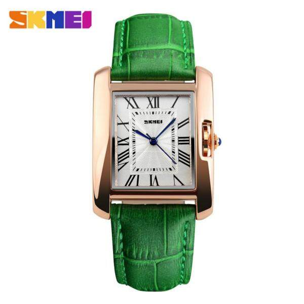 SKMEI 1085 Womens Fashion Luxury Retro Quartz Watches Analog Display Waterproof Women Casual Dress Wrist Watch - Green Malaysia