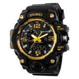 Discount Skmei 1155 Man Sports Watches Led Military Waterproof Wristwatch Men S Quartz Analog Digital Watch Gold Skmei
