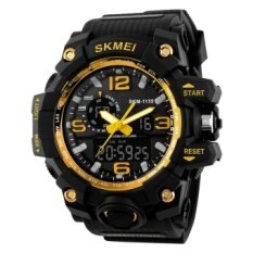 Compare Price Skmei 1155 Man Sports Watches Led Military Waterproof Wristwatch Men S Quartz Analog Digital Watch Gold Skmei On China