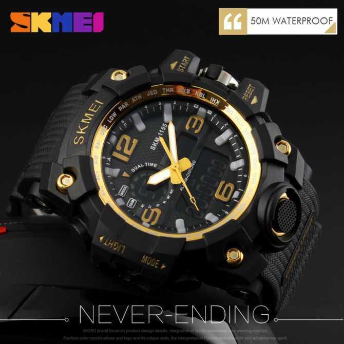 SKMEI 1155 Men Sport Watch Digital LED Watches Dual Display Fashion  Waterproof Wrist Watches Jam tangan cfb742e2de