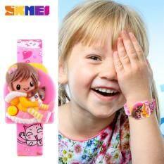 SKMEI 1240 Fashion Girls Kids Cartoon Creative Digital Lovely Wristwatches - Pink Malaysia