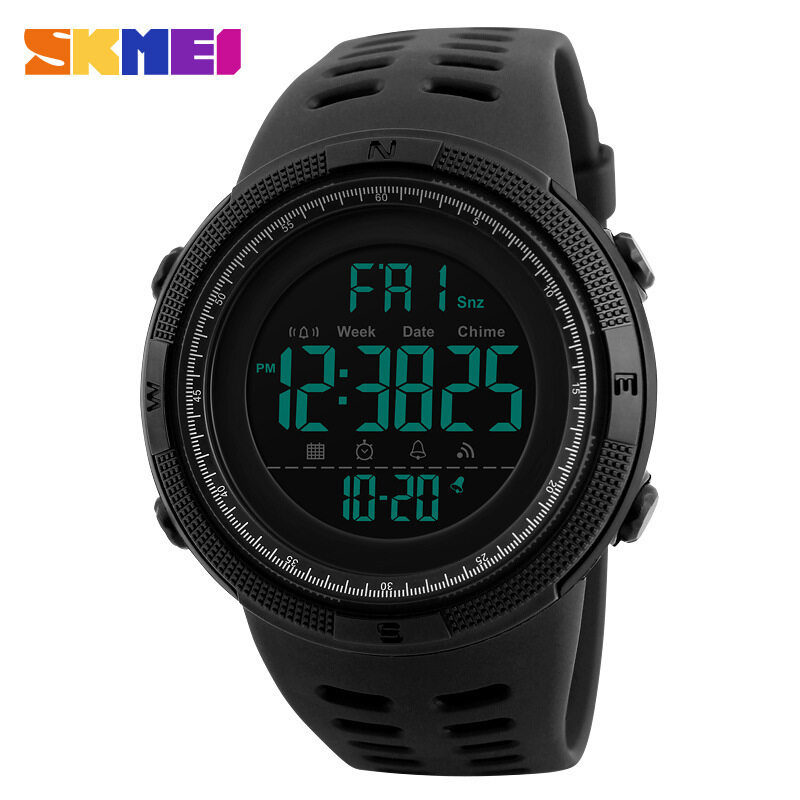 SKMEI 1251 Men Trendy Electronic Watch Outdoor Sports Waterproof Watch Malaysia