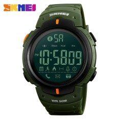 ĐỒNG HỒ NAM SKMEI 1301 Bluetooth Lượng Calo Đo Sức Đi Bộ Đồng Hồ Thông Minh dành cho Nam ĐÈN LED Chống Sốc Quân Đội Đa Năng Điện Tử Kỹ Thuật Số Đồng Hồ-quốc tế