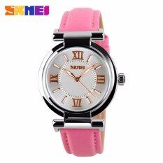 SKMEI 9075 Womens Leather Watch Fahsion Womens Watch Quartz Watch Leather Watch Pink Malaysia