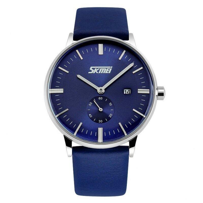 SKMEI 9083 Watches Men Luxury Brand Skmei Genuine Leather Strap Wristwatches Men Casual Watch Malaysia
