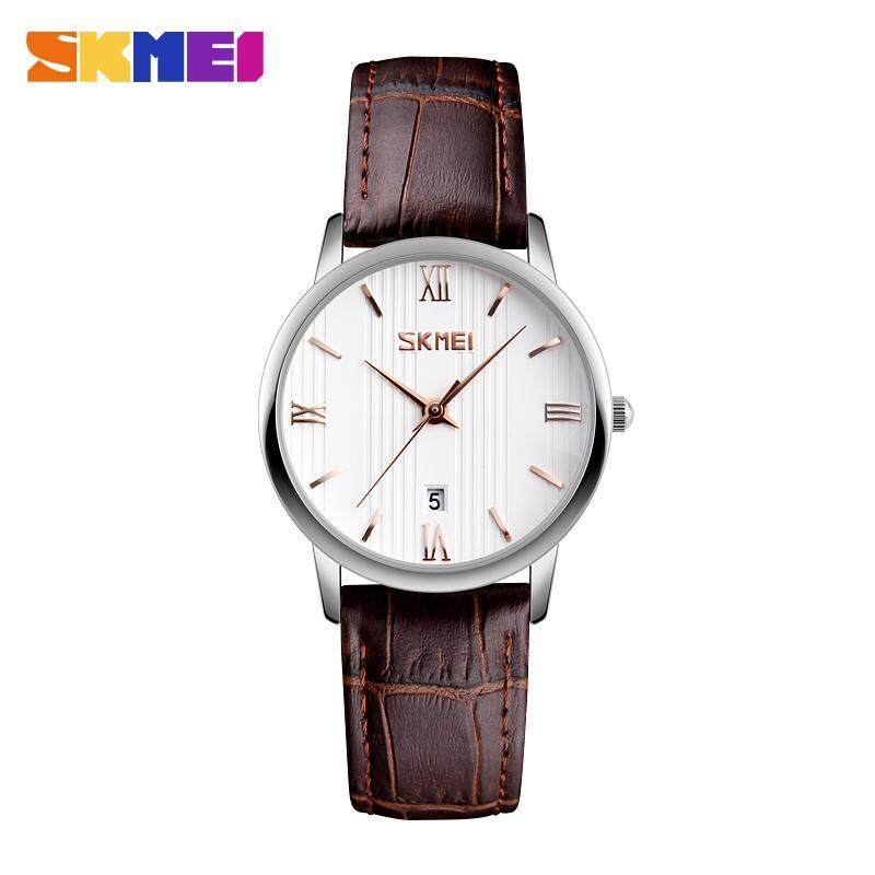 SKMEI 9130 Couple Models Watch The Trend of Waterproof Belt Quartz Watch Female Plus Color - Lily Malaysia