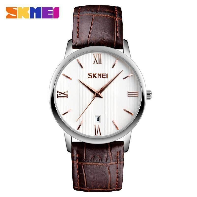 SKMEI 9130 Couple Models Watch The Trend of Waterproof Belt Quartz Watch Male Plus Color - Lily Malaysia