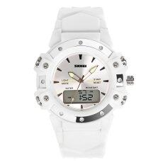 SKMEI Brand Watch 0821 Korean version of the personality of Sports fashion show double female Casual Simple multifunctional dual time watch waterproof Malaysia