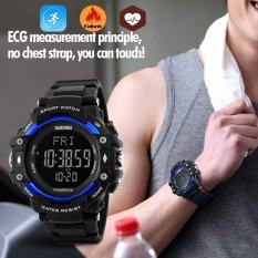 SKMEI Brand Watch 1180 Sports Health Watches 3D Pedometer Heart Rate Monitor Calories Counter 50M Waterproof Digital LED Wristwatches Malaysia