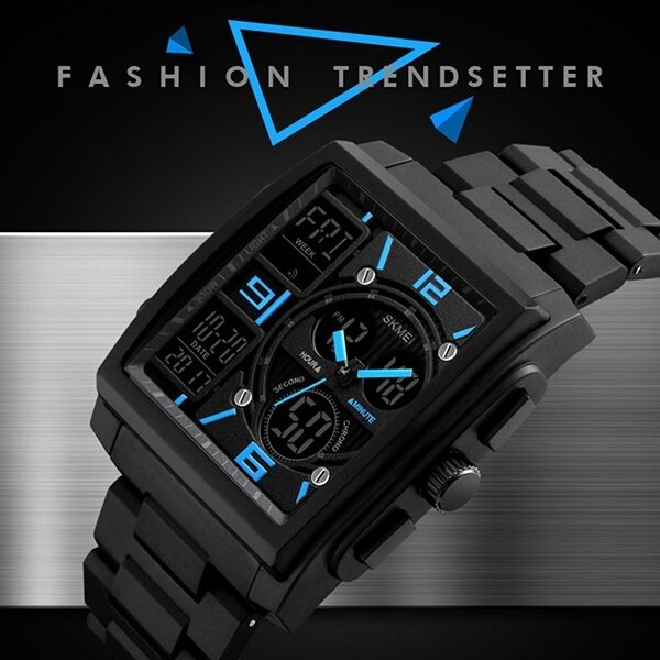 SKMEI Brand Watch Men Fashion Watches Count Down Chronograph Alarm Sport Watwrproof EL Light Digital Wristwatches 1274 Malaysia