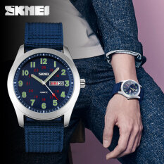 SKMEI Brand Watch  Men  Nylon Strap Men Army Military Wristwatches Clock Male Quartz Watch Relogio Masculino9112 Malaysia