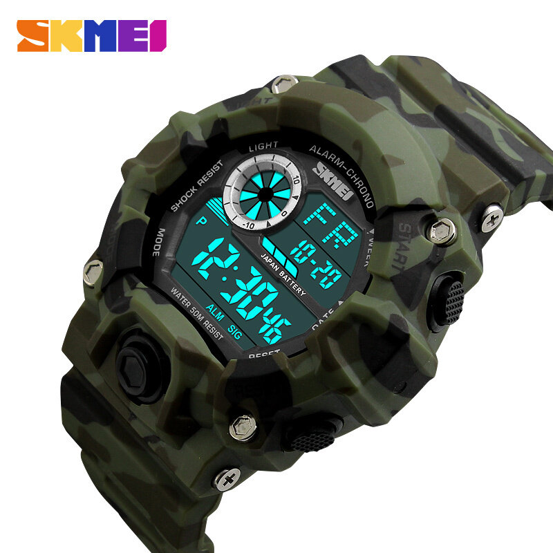 SKMEI Brand Watch Men Sports Watches  Camouflage Military Watches Digital LED Waterproof Wristwatches Relogio Masculino 1019 Malaysia