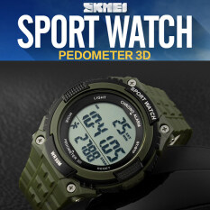 SKMEI Brand Watch Pedometer Digital Men Sport Running Waterproof Military Wristwatch Army Green Fashion 1112 Malaysia