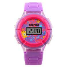 Skmei Cool Originality Led Cute Colorful Digital Children Wristwatch With Time And Date Display By Tomtop.