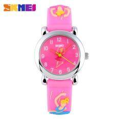 SKMEI 1047 Cute Alarm Clock Calendar Childrens Watch Cartoon Watches for Kids Students Digital Wristwatches Ready Stock Malaysia