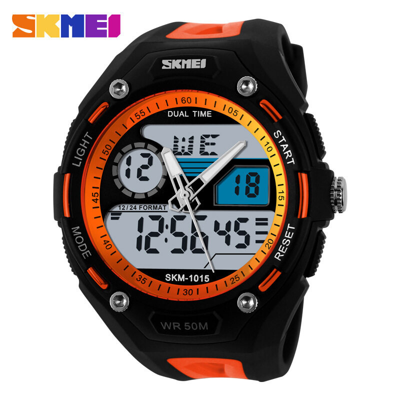 Skmei Dual Display Fashion Watch Orange Malaysia