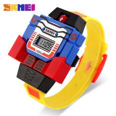 Skmei Fashion Digital Children Watch Date Cartoon Kids Sports Watches Relogio Robot Transformation Boys Wristwatches 1095 By Fun Trading International.