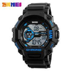 SKMEI Fashion Men Sports Watches Multifunction LED Digital Wristwatches 50M Waterproof Outdoor Watch Man 1233 - Blue Malaysia
