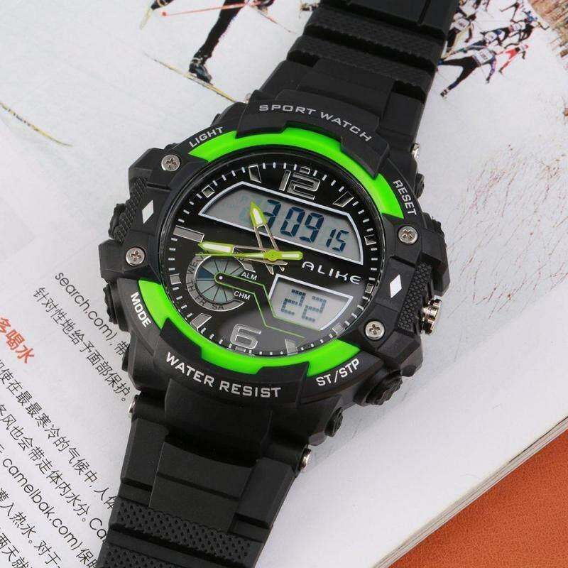 ALIKE AK15117 Mens LCD Digital Quartz Analog Sport Wristwatch Rubber Strap Malaysia