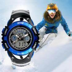 Skmei Kids Children Led Quartz Watch For Boy Girl Diving Wristwatch Blue By Sportkinger.