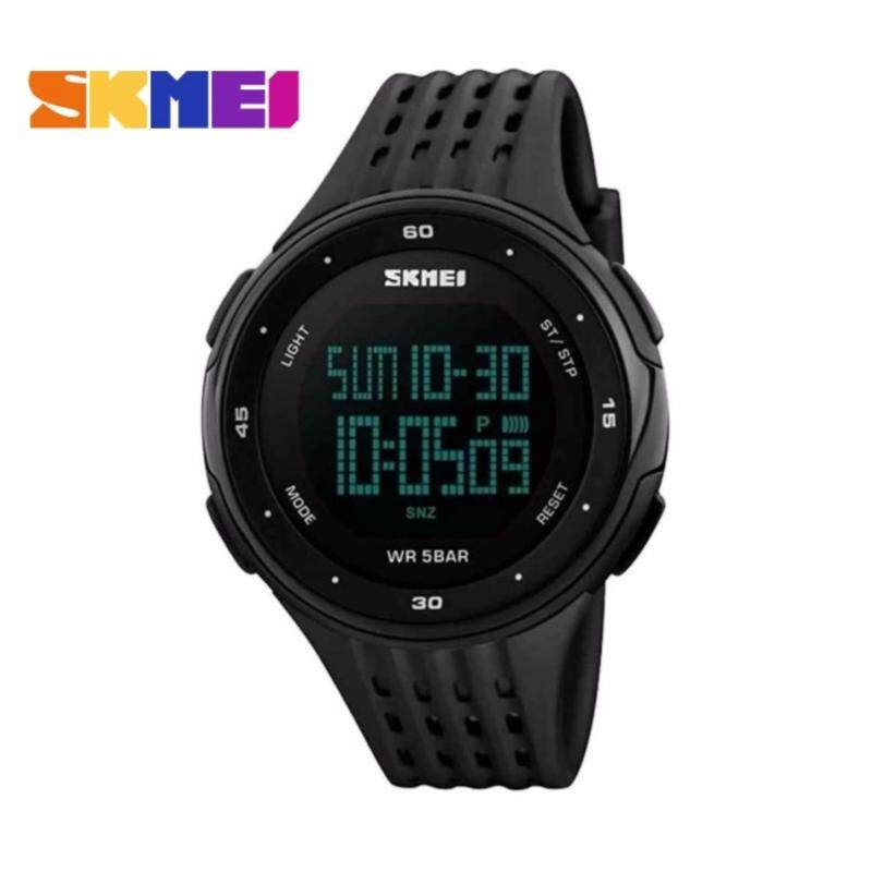 GTE SKMEI LED Digital Military Men Sports Fashion Watches 5ATM Swim Climbing Outdoor Casual Wristwatches - 5 Colors Available - Black - Fulfilled by GTE SHOP Malaysia