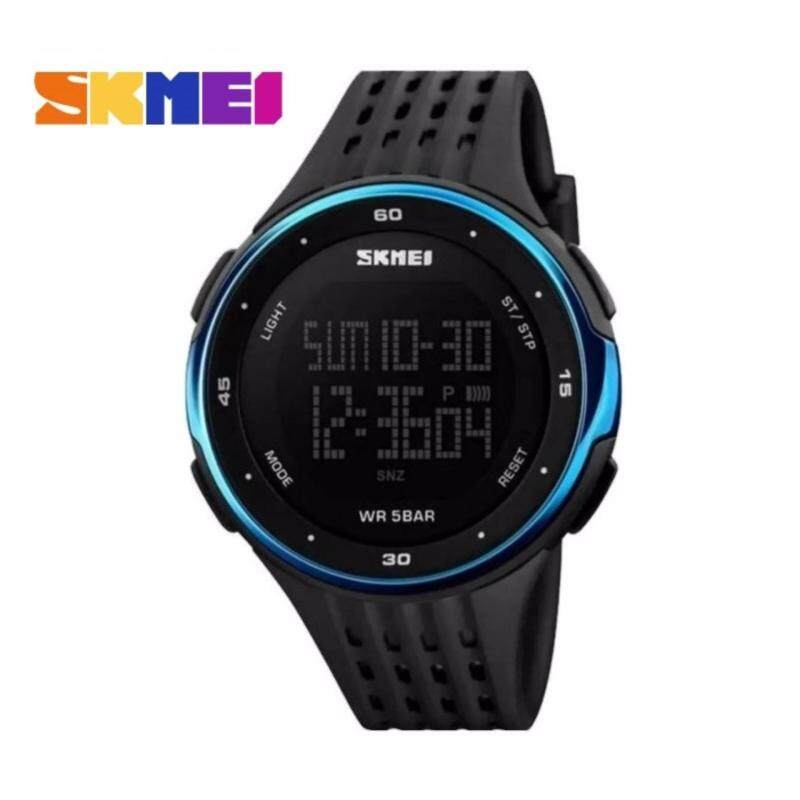 GTE SKMEI LED Digital Military Men Sports Fashion Watches 5ATM Swim Climbing Outdoor Casual Wristwatches - 5 Colors Available - Blue - Fulfilled by GTE SHOP Malaysia