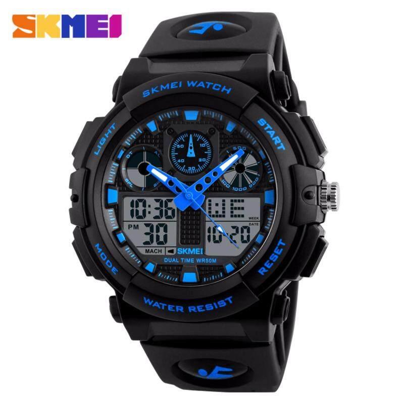 SKMEI Luxury Brand Men Sports Watches Mens Quartz LED Digital Hour Clock Male Military Waterproof  Wrist Watch Malaysia