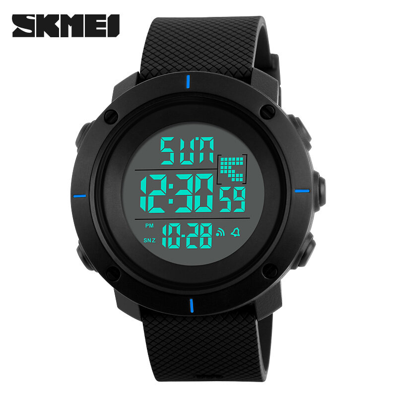 SKMEI  Men Sport Watch Big Dial Digital Military Outdoor Wristwatches Back Light Chronograph Alarm 50M Waterproof Watches 1213 Malaysia