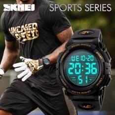 SKMEI Men Sport Watch Alarm Clock Chrono LED Digital Wristwatches 50M Waterproof Watch 1258 Malaysia