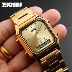 Skmei Men Sports Watches Top Brand Fashion Clock Chronograph Luxury Digital Quartz Dual Time Wristwatches 1220 Malaysia