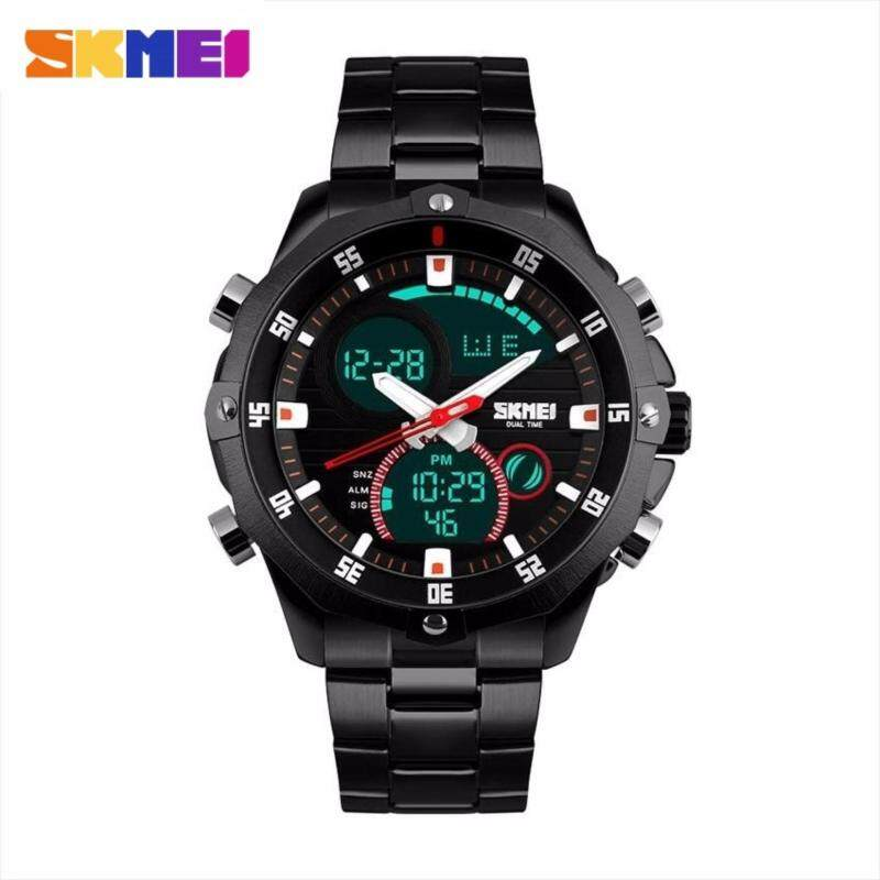 GTE SKMEI New 1146 s calendar strip watch Men - 2 Colors Available - Black - Fulfilled by GTE SHOP Malaysia
