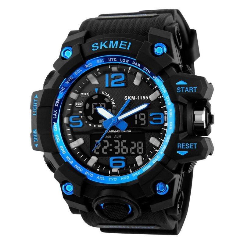 SKMEI New 2016 Luxury Brand LED Military Waterproof Wristwatch Fashion Sport Super Cool Mens Quartz Analog Digital Watch Man Sports Watches Malaysia