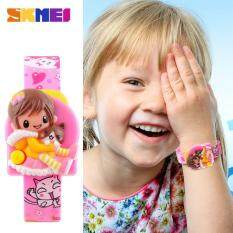 SKMEI New Fashion Children Cartoon Watches Creative Students Watches Girls Kids Digital Lovely Wristwatches 1240 - Pink Malaysia