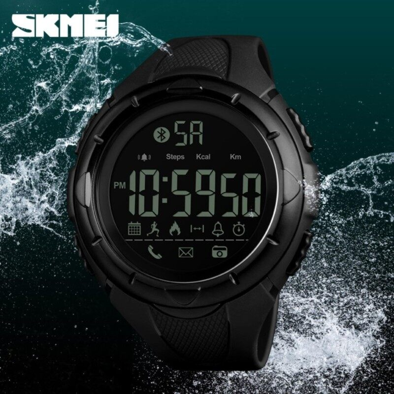 SKMEI New Men Sport Outdoor Watch Smart Watches Fashion Pedometer Remote Camera Calorie Bluetooth Smartwatch Waterproof Wristwatch 1326 Malaysia