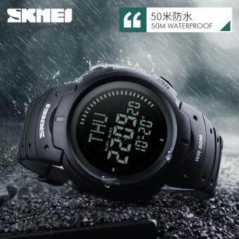 SKMEI Outdoor Man Sports Compass Watches Hiking Digital LED Electronic Watch  Chronograph Men Clock - Black 5d32d6a20c