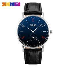 SKMEI Top Brand Couple Digital Watches Fashion Casual Quartz 30m Waterproof Men Watch Luxury Leather Band Business Wristwatches 9120 (large) Malaysia