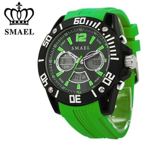 SMAEL Brand Casual Watch Jam Tangan es Watch Jam Tangan  Men Analog Quartz WristWatch Jam Tangan  Waterproof Alloy Time Clock Dual Display 1035 Malaysia