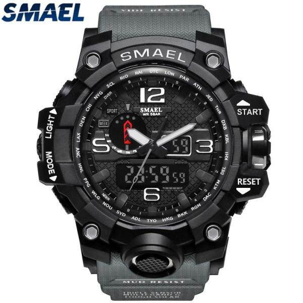 LazChoice SMAEL Brand Sport Watch Mens Fashion Analog Quartz LED Digital Electronic Watch Men Multifunctional Waterproof Military Watches Malaysia