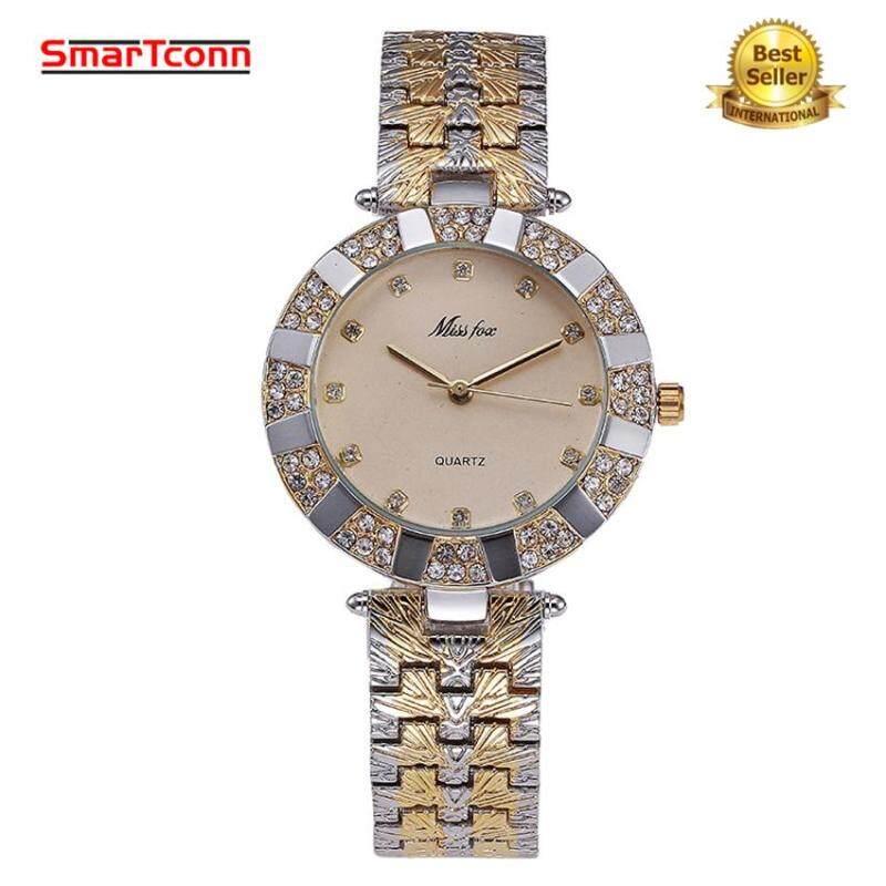 SmarTconn Women Watch Luxury Brand Fashion Casual Ladies Diamonds Gold Watch Quartz Simple Clock Malaysia