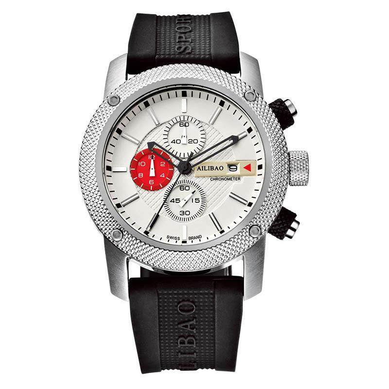 SOBUY Love summers new liberty multifunctional Chronograph Mens watch sport waterproof silicone half off (White) Malaysia