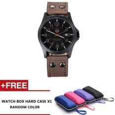 Sodexo Classic Sport Calendar Watches Quartz Dial PU Leather Band Watches (Brown) Malaysia