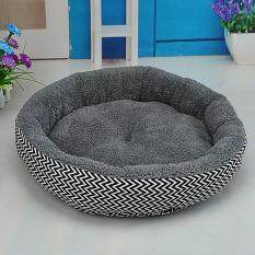 Soft Flannel Pet Dog Puppy Cat Kitten Pig Round Warm Bed Home House Cozy Nest Mat Pad With 3d Pp Cotton Filling Specification:s Colour:gray By Hossen.