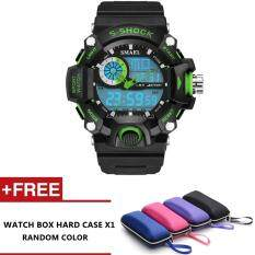 Sparco Analog Digital Waterproof Dual Time Sports watch with LED Backlight (Green) Malaysia