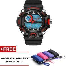 Sparco Analog Digital Waterproof Dual Time Sports watch with LED Backlight (Red) Malaysia
