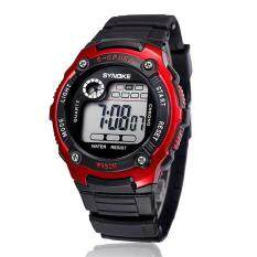 Sports Boy Digital LED Quartz Alarm Date Wrist Watch Waterproof Red Malaysia