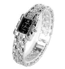 Square Head Silver Ladies Watch Bow with Gold Bracelet Watch -Silver Malaysia