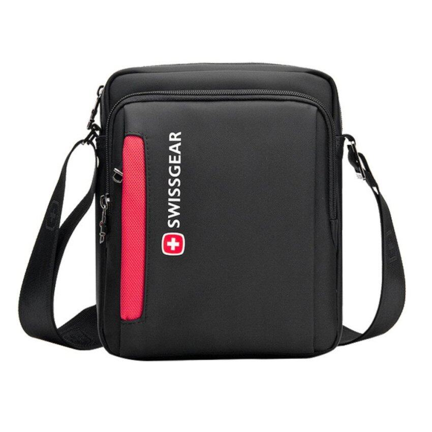 Nicetech SSM SwissGear SA5008 Model Large Leisure Travel Business Outdoor  One-shoulder Bag (Black 9ceac42a90515