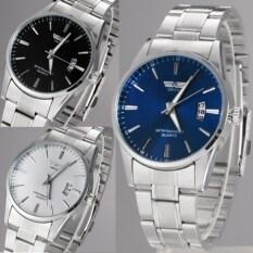 Stainless Steel Band Analog Quartz Sport Men Wrist Watch (White) Malaysia