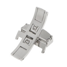 Stainless Steel Butterfly Clasp Watch Buckle Push Belt Strap Clasp 22mm Malaysia