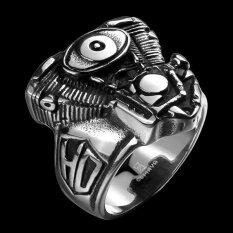 BN สแตนเลสสตีลผู้ชายชายเครื่องประดับโบราณ Eye of The Devil แบบจำลองแหวนสำหรับของขวัญวันเกิดคริสต์มาส